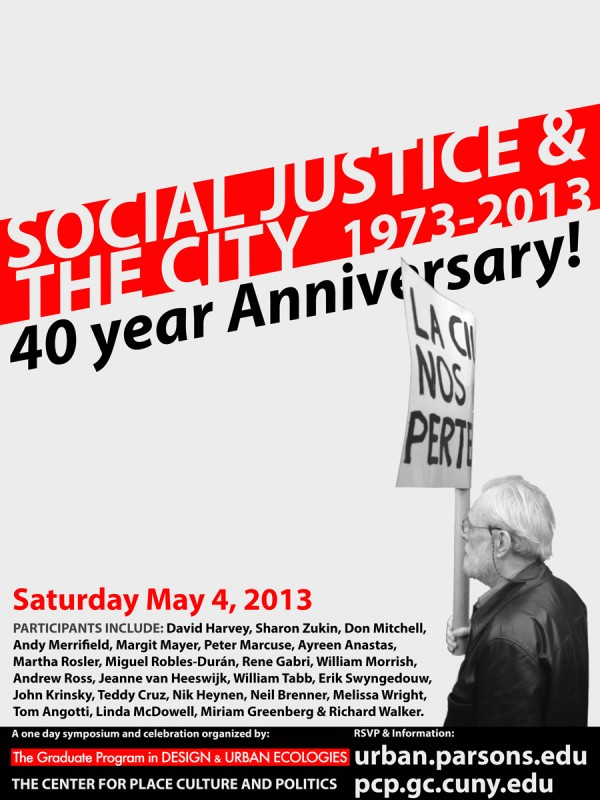 Social Justice and the City: 40th Anniversary Celebration
