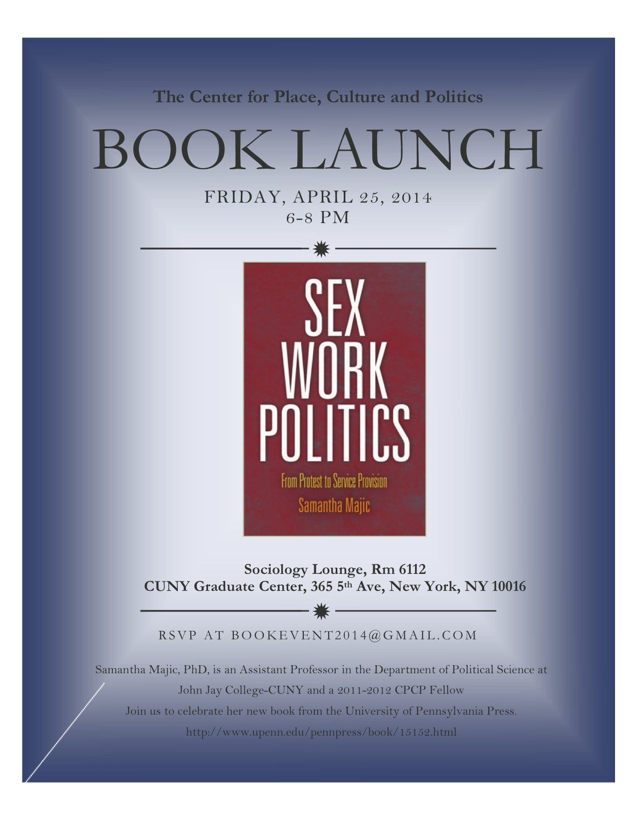 Book Launch– Sex Work Politics: From Protest to Service Provision