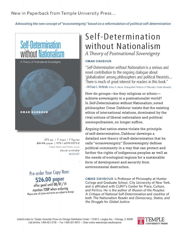 Self-Determination without Nationalism disc