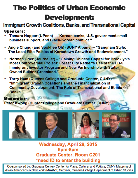 The Politics of Urban Economic Development: Immigrant Growth Coalitions, Banks, and Transnational Capital