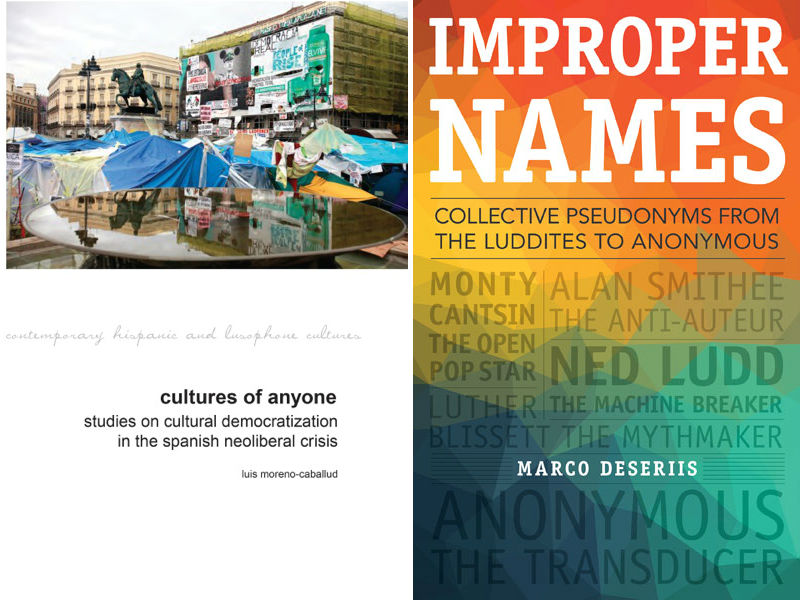 11/06 DOUBLE BOOK LAUNCH: CULTURES OF ANYONE AND IMPROPER NAMES